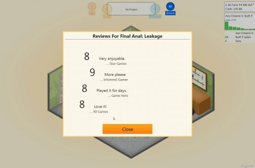 Mygamer Visual Cast Awesome Blast: Game Dev Tycoon