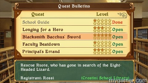Always something to do Class of Heroes II (PSP) Review Class of Heroes II (PSP) Review questboard