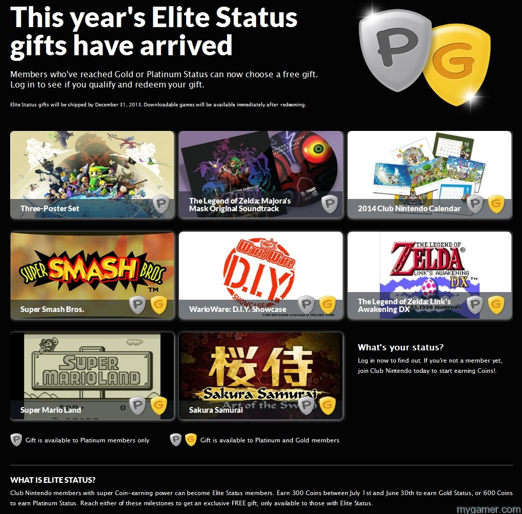 Club Nintendo 2013 Gifts Club Nintendo 2013 Elite Status Gift Announcement Club Nintendo 2013 Elite Status Gift Announcement Club Nintendo 2013 Gifts