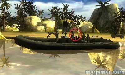 Sometimes you get all Rambo trigger happy Heavy Fire: Black Arms 3D 3DS eShop Review Heavy Fire: Black Arms 3D 3DS eShop Review Heavy Fire Black Arms Boat