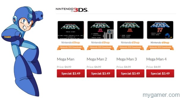 Mega Man Sale on 3DS eShop Mega Man Sale on 3DS eShop Mega Man eShop Sale