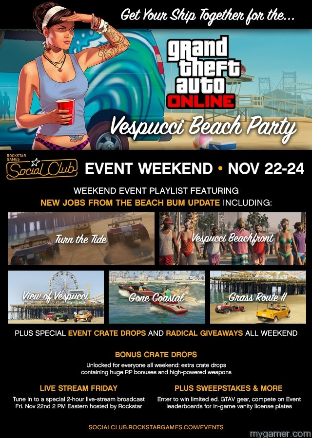 Vespucci Beach Party: GTA Online Social Club Event Weekend Vespucci Beach Party: GTA Online Social Club Event Weekend gta