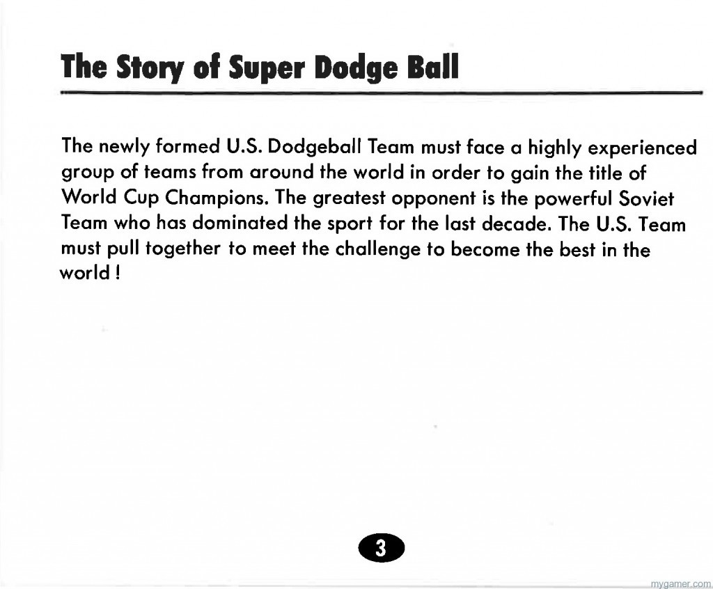 Super D Ball actually had a story line