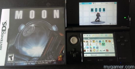 Moon DS cart next to digital Moon Moon Chronicles Episode 1 3DS eShop Review Moon Chronicles Episode 1 3DS eShop Review Moon and Moon Chrono