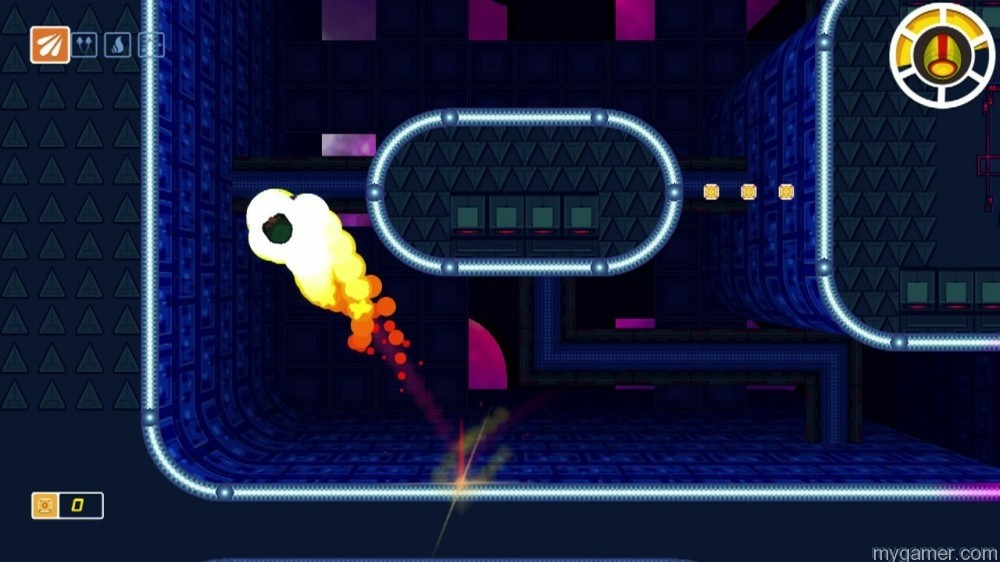 This is the double jump Screw Attack move the game doesn't inform you about Scram Kitty and His Buddy on Rails Wii U eShop Review Scram Kitty and His Buddy on Rails Wii U eShop Review Scram Kitty jump