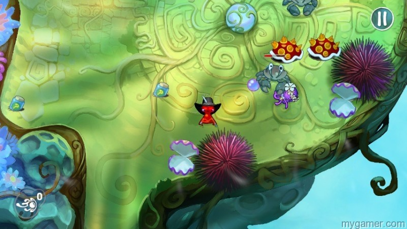 Random items, like the spiney Mario shell, can be found in the environment squids odyssey wiiu eshop review Squids Odyssey WiiU eShop Review SquidsOdyssey2