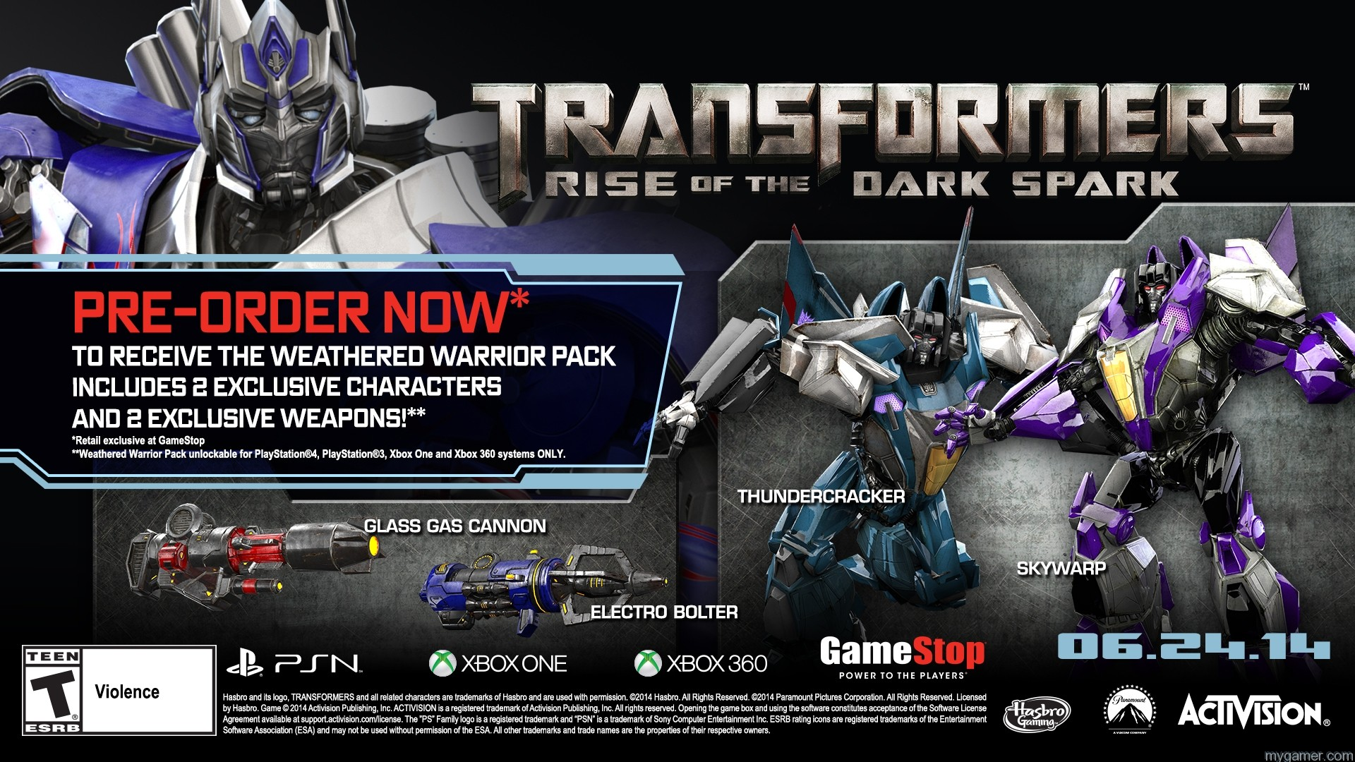 Gamestop Offering Exclusive Content with Transformers: Rise of the Dark Spark Pre-Order Gamestop Offering Exclusive Content with Transformers: Rise of the Dark Spark Pre-Order TFRotDS GameStop DLC