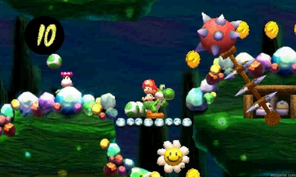 It is more challenging than you would think Yoshi's New Island Review Yoshi's New Island Review Yoshi Island New Flower 1024x613