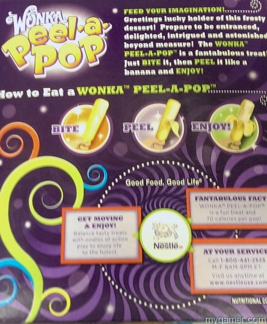 Ice cream that comes with instructions Gamer's Gullet: Wonka Peel-A-Pop Popsicles Review Gamer's Gullet: Wonka Peel-A-Pop Popsicles Review Peel A Pop BoxBack