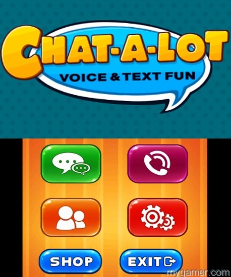 Chat-a-lot_Screen1 Voice and Texting App Coming to 3DS: Chat-A-Lot Voice and Texting App Coming to 3DS: Chat-A-Lot Chat a lot Screen1