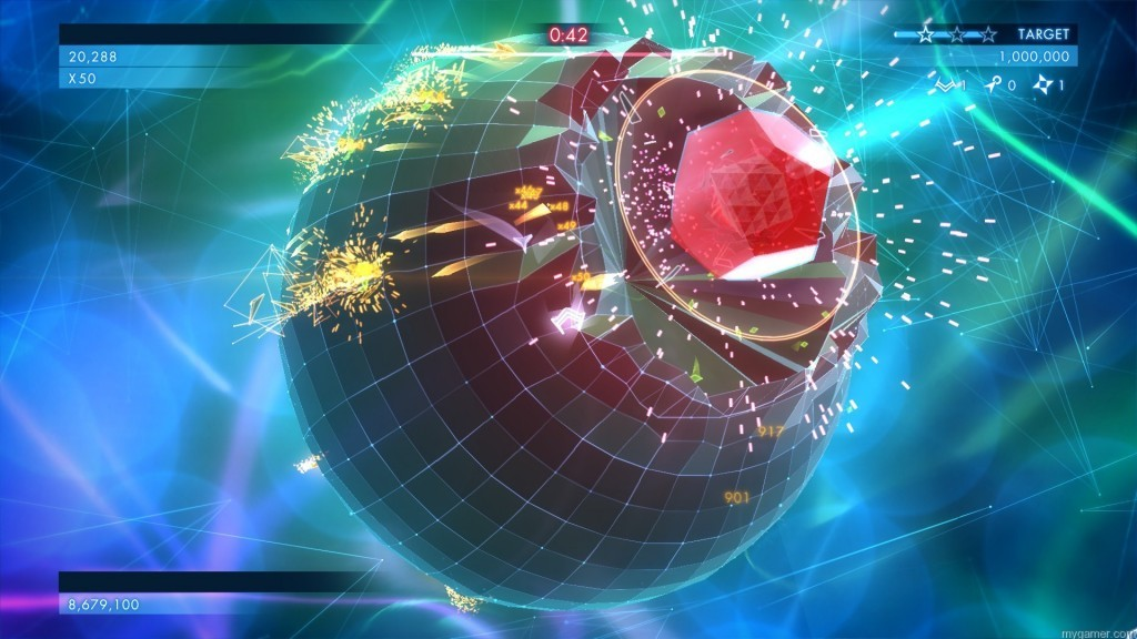 Defeating bosses can unlock perks like helpful drones or mines Geometry Wars 3: Dimensions Xbox One Review Geometry Wars 3: Dimensions Xbox One Review GW301 1024x576