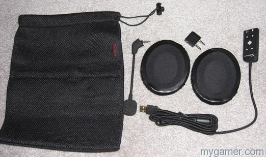 Comes with everything you see HyperX Cloud II Headset Review HyperX Cloud II Headset Review CIMG3268