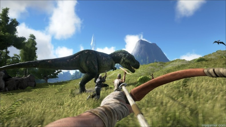ARK: Survival Evolved Looks Like the Turok Game We've Always Wanted ARK: Survival Evolved Looks Like the Turok Game We've Always Wanted ARK Dino Bow 790x444