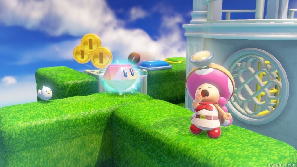 Look at the bright colors! Captain Toad: Treasure Tracker (Wii U) Review Captain Toad: Treasure Tracker (Wii U) Review WiiU CaptainToad 101014 SCRN19