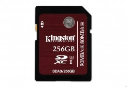 Kingston Releases 128GB and 256GB Versions of their Speedy SD Cards Kingston Releases 128GB and 256GB Versions of their Speedy SD Cards Kingston UHS I U3 256GB  SDA3 256GB 263x180