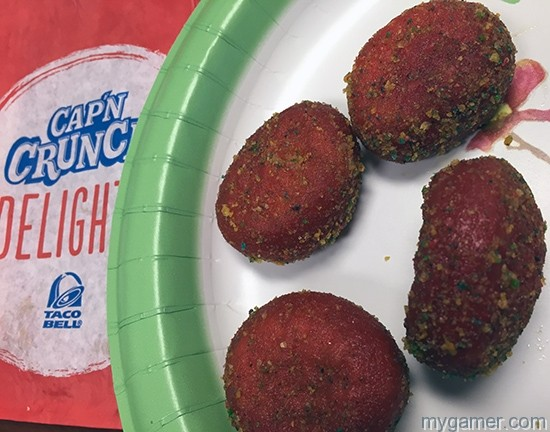 Yum, looks good, right? gamer's gullet: taco bell's cap'n crunch delights Gamer's Gullet: Taco Bell's Cap'n Crunch Delights Review IMG 1211