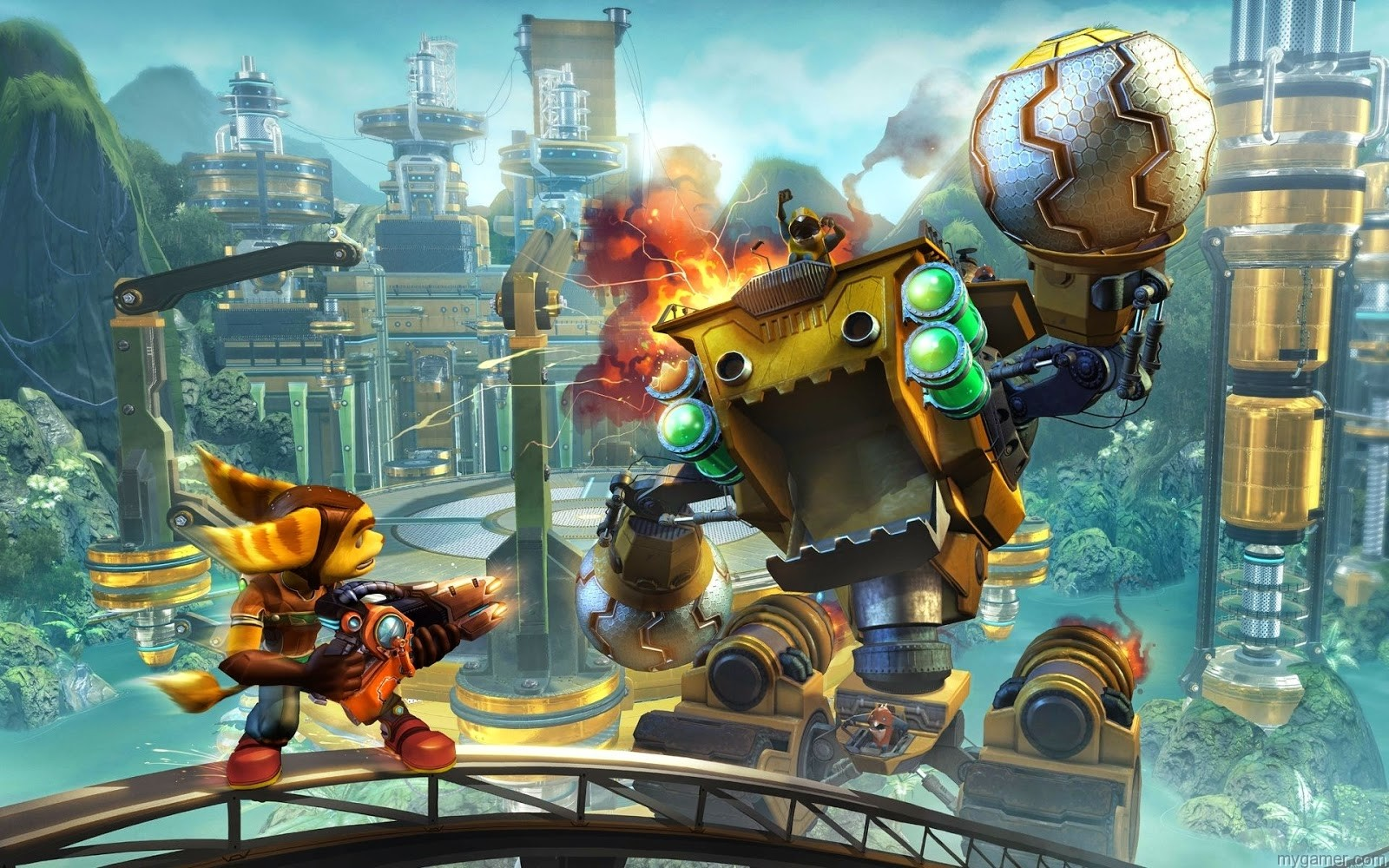 gameplay in new Ratchet & Clank for PS4 Ratchet & Clank (PS4) Preview Ratchet & Clank (PS4) Preview ratchet and clank wallpaper