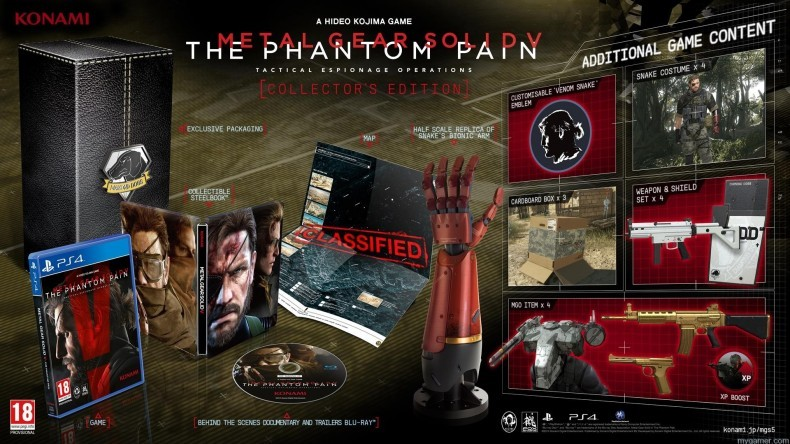 Metal Gear Solid V: Phantom Pain Collector's Edition Unboxing Video Metal Gear Solid V: Phantom Pain Collector's Edition Unboxing Video MGS Hero Shot Amended Tues 03 03 Copy 790x444