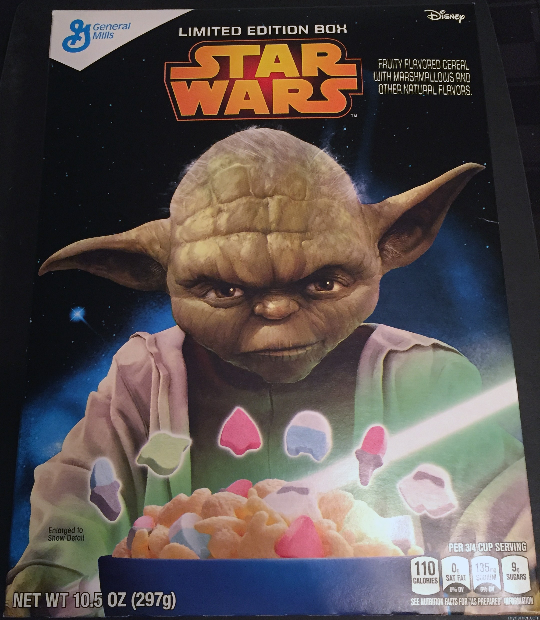 """""""The sh!ts this will give you, hmmm. Hehe."""" Gamer's Gullet: Star Wars Cereal Review Gamer's Gullet: Star Wars Cereal Review Star Wars Cereal Box Front"""