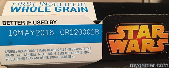 Would have been cool if this expired on May 4th Gamer's Gullet: Star Wars Cereal Review Gamer's Gullet: Star Wars Cereal Review Star Wars Cereal BoxTopFlap