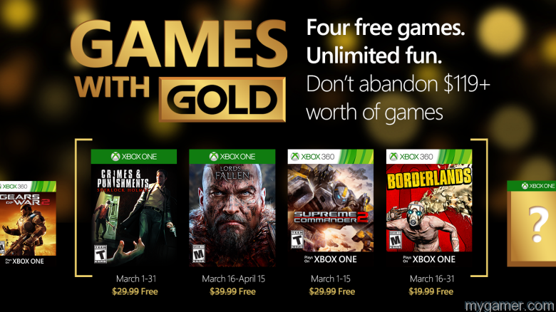 Xbox Live Free Games With Gold March 2016 Announced Xbox Live Free Games With Gold March 2016 Announced Xbox Live Gold Games March 2016