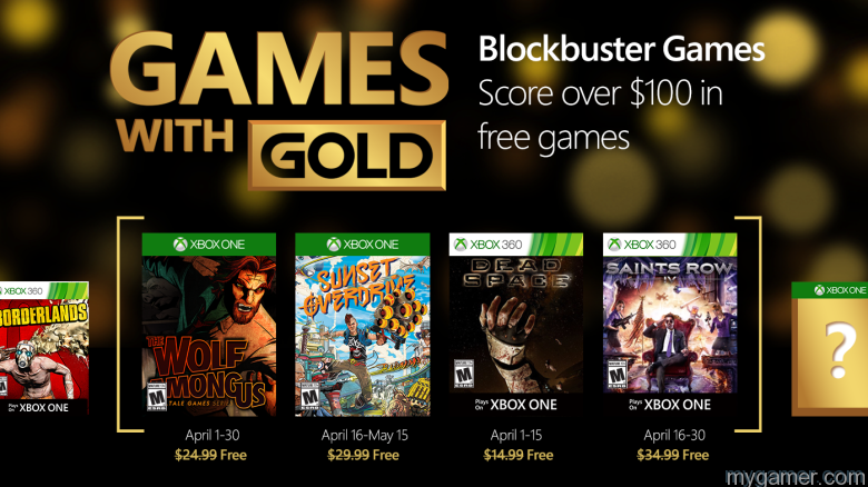 Xbox Live Games With Gold For April 2016 Xbox Live Games With Gold For April 2016 Announced Xbox Games With Gold April 2016