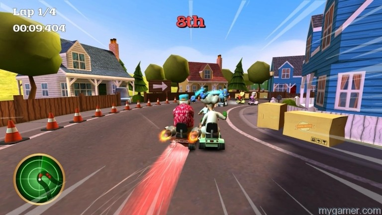There is no boost turning mechanic but there is a boosting item Coffin Dodgers Xbox One Review Coffin Dodgers Xbox One Review COffin Dodgers Boost