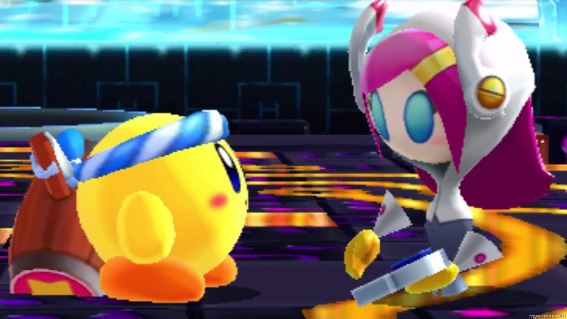 Kirby meets some new bad guys Kirby: Planet Robobot 3DS Review Kirby: Planet Robobot 3DS Review Kirby Planet Robo bad guy