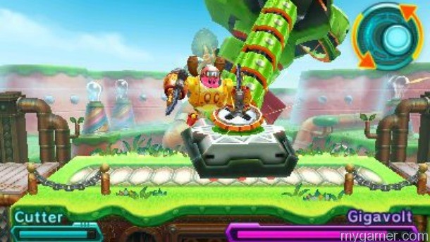 The Robobot is so powerful it can unscrew parts of the level Kirby: Planet Robobot 3DS Review Kirby: Planet Robobot 3DS Review Kirby Planet Robobot screw