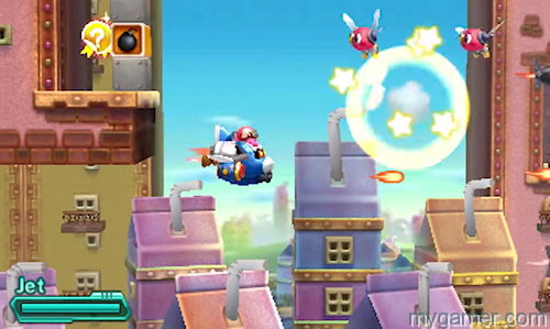 The shooter segments are awesome Kirby: Planet Robobot 3DS Review Kirby: Planet Robobot 3DS Review kirby planet robo shooter