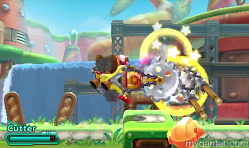 The mech is used for combat and puzzle solving Kirby: Planet Robobot 3DS Review Kirby: Planet Robobot 3DS Review kirby planet robobot 3ds review 3