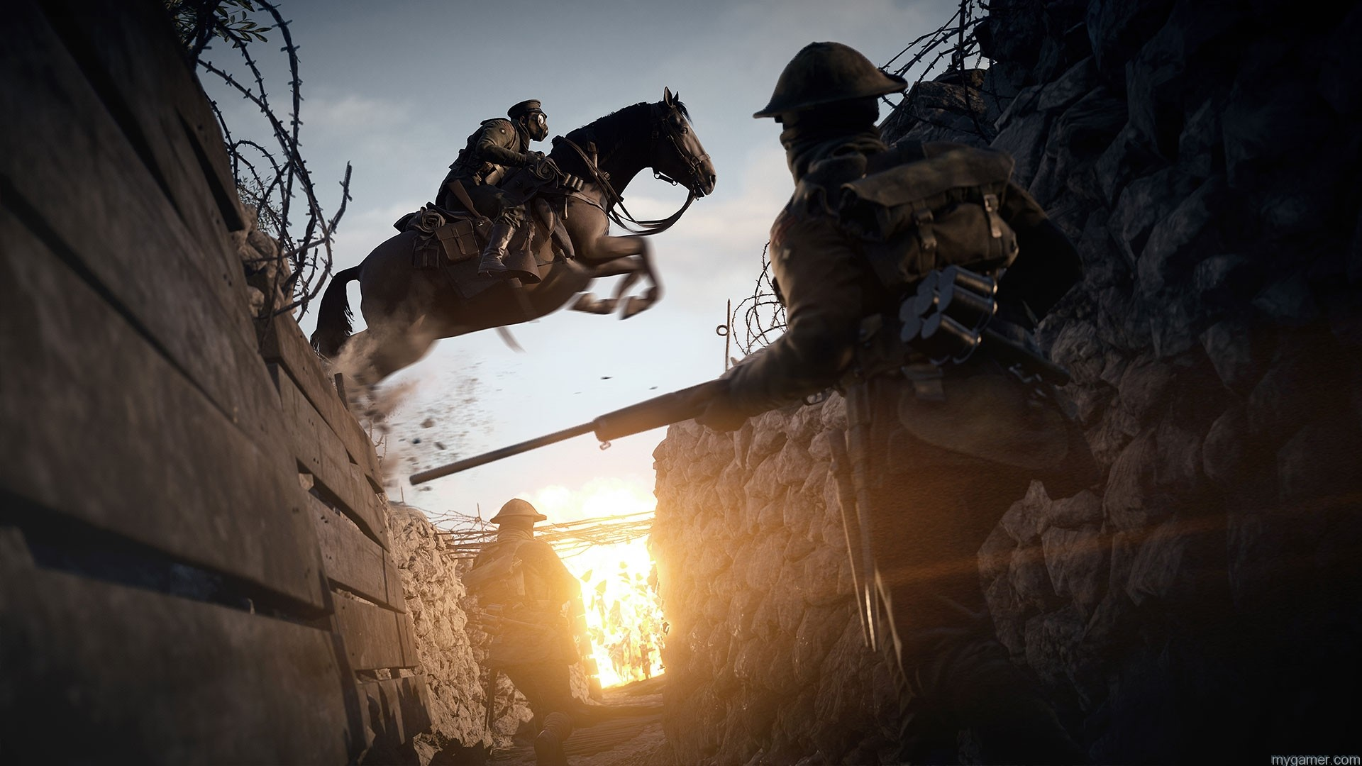 vehicles and horses in Battlefield 1 Battlefield 1 Preview Battlefield 1 Preview rendition1