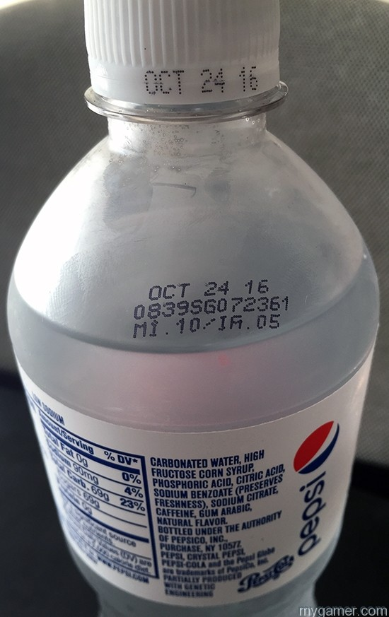 Believe it or not, this bottle of chemicals actually has an expiration date. Take that Twinkies!  Gamer's Gullet – Crystal Pepsi 2016 Review Gamer's Gullet – Crystal Pepsi 2016 Review Crystal Pepsi Expiration Date