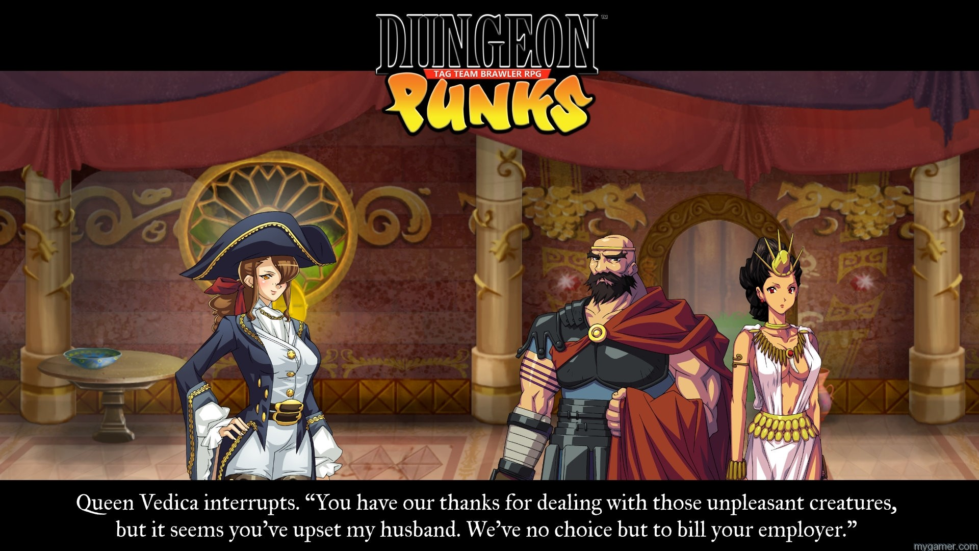 The environment is monster, goblins and fantasy, but with real world problems like billing issues and insurance premiums.  Dungeon Punks: Tag Team Brawler RPG Xbox One Review Dungeon Punks: Tag Team Brawler RPG Xbox One Review dungeon punks screen 07 story ps4 us 19apr16