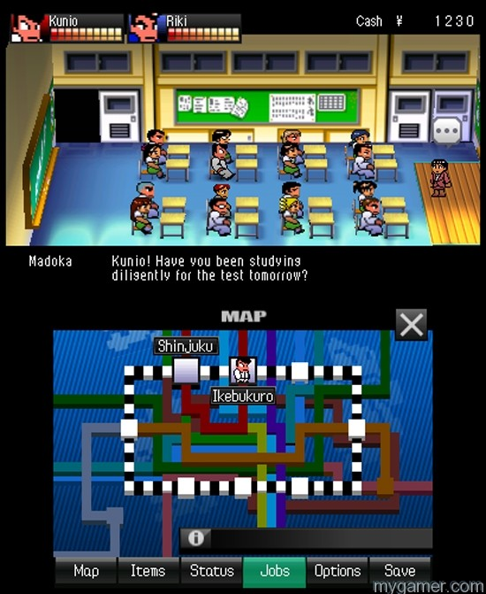 The teacher always give Kunio grief River City: Tokyo Rumble 3DS eShop River City: Tokyo Rumble 3DS eShop Review River City Tokyo Rumble Teacher