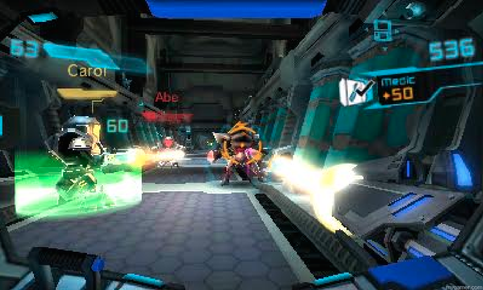 The 2nd analog nub on NEW 3DS units can work but tilting the system to aim works much better. Metroid Prime Federation Force 3DS Review Metroid Prime Federation Force 3DS Review Metroid Fed Force shooting