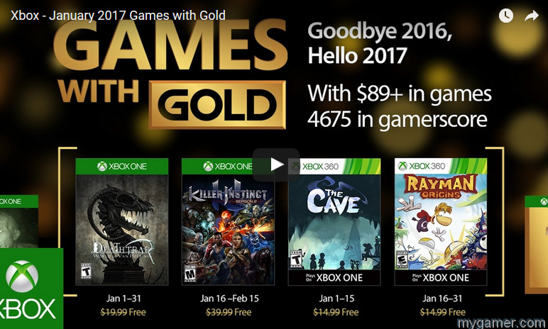 these are the free xbox games for january 2017 These are the Free Xbox Games for January 2017 Xbox Games with Gold Dec2016