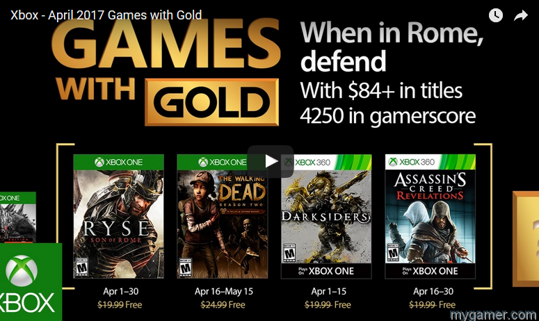 These are the Free Xbox Games for April 2017 These are the Free Xbox Games for April 2017 Xbox Games with Gold APril 2017