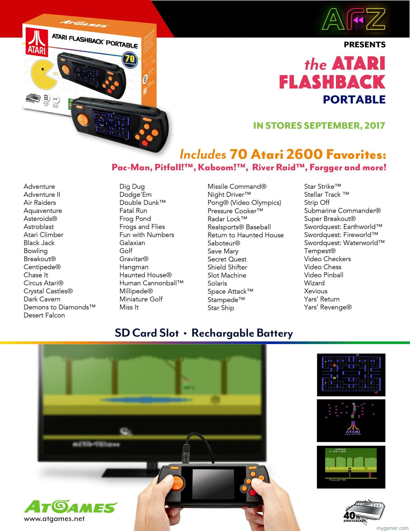 [object object] Details on the Atari and Genesis Flashback Systems 2017 Atari Flashback Portable