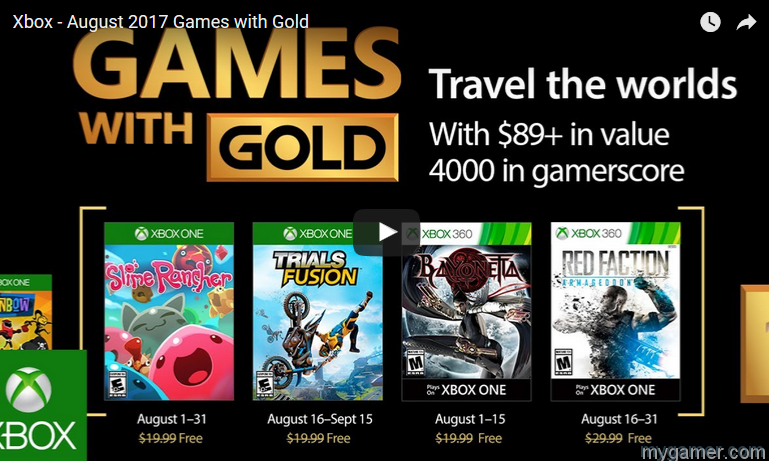 [object object] These Are the Free Xbox Games for August 2017 Games with Gold Aug 2017
