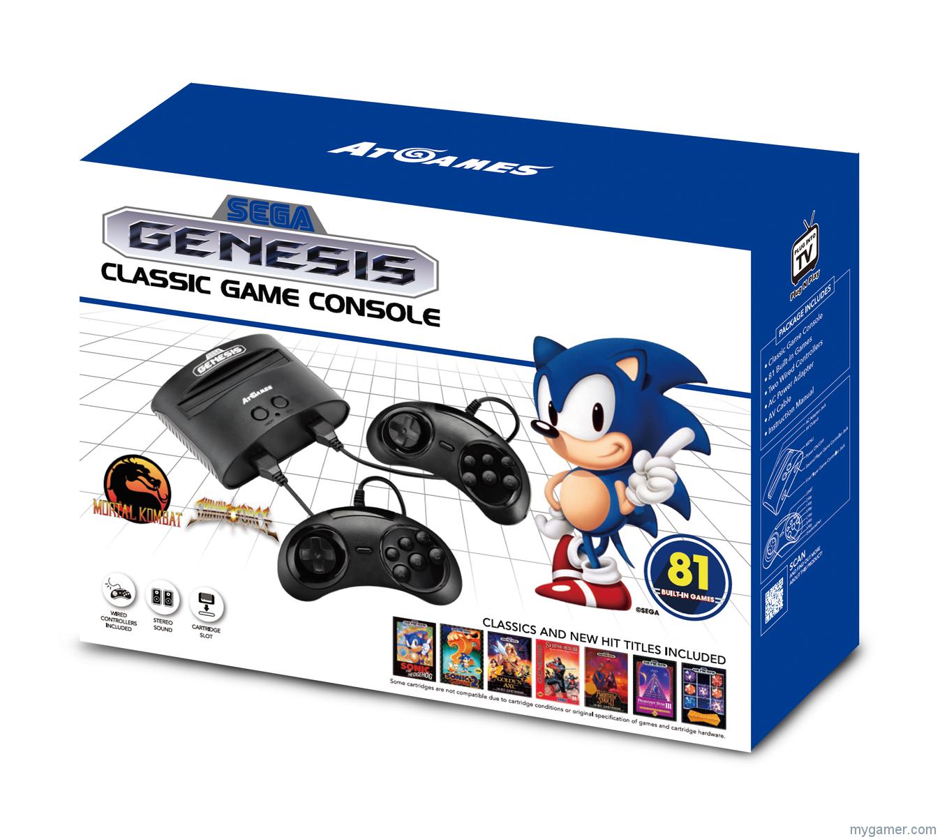 [object object] Launch Dates Announced for New Atari 2600/Sega Genesis Consoles and Handhelds Sega Genesis Flashback 8