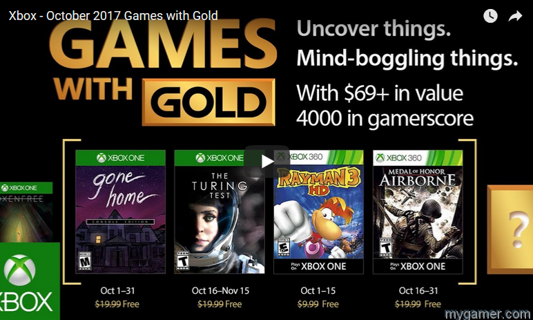 these are the free xbox games for october 2017 These are the Free Xbox Games for October 2017 Free Xbox Games Gold Oct 2017