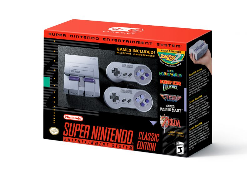 Super NES Classic Edition nintendo increases inventory of super nes classic edition; nes classic edition returns to stores in 2018 Nintendo Increases Inventory of Super NES Classic Edition; NES Classic Edition Returns to Stores in 2018 SNES Mini Box 790x583