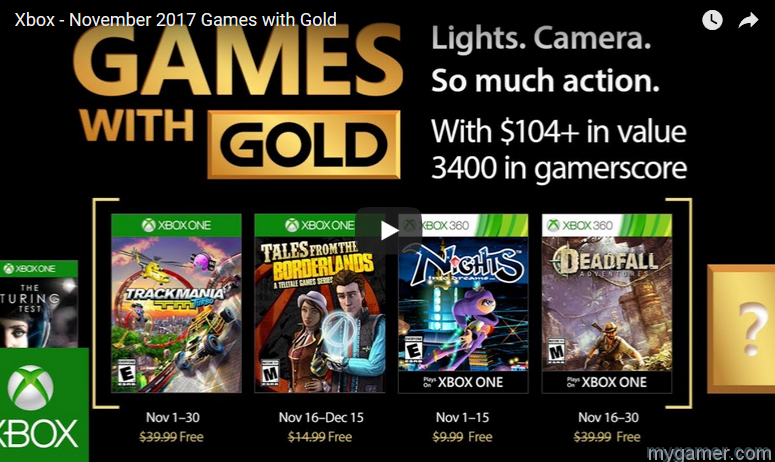 here are the free xbox games for november 2017 Here Are the Free Xbox Games for November 2017 Xbox Gold Nov 2017 Free