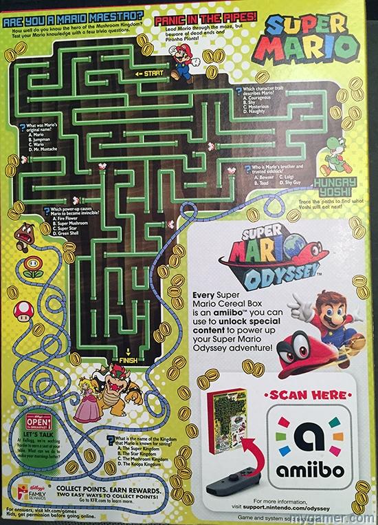 gamer's gullet – super mario cereal review Gamer's Gullet – Super Mario Cereal Review Super Mario Cereal boxBack